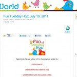 Our Family World, Blog Hop, July 2011