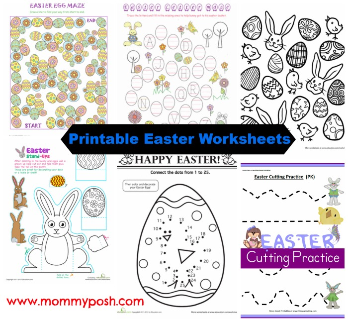printable easter worksheets and fine motor skills