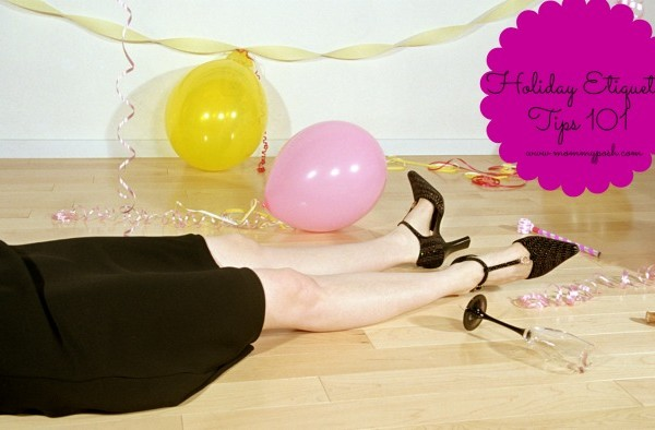 Woman passed out on floor at party, low section